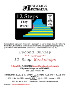 Working ALL 12 Steps Online Workshop